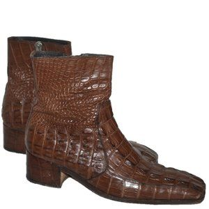 Yves Saint Laurent YSL Victor Crocodile Boots